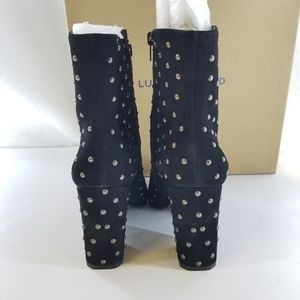 Lucky Brand Shoes - LUCKY BRAND Wesson2 Black Studded Boot Sz 9.5M